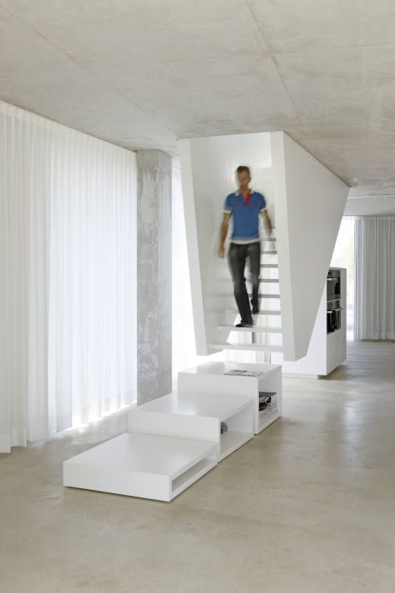 Corridor, hallway & stairs by Wiel Arets Architects