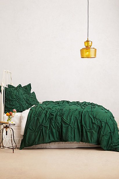 Pearle Duvet #anthropologie  Must find a jade green bedspread or comforter for guest room.