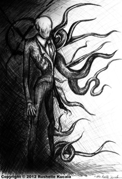 For Natan's room...'Slender Man' by Rushelle Kucala on artflakes.com as poster or art print $16.63