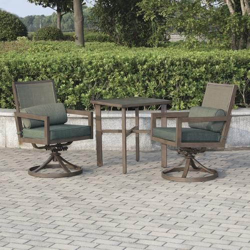 339 Menards Backyard Creations Danbury Collection 3 Piece Bistro Set Patio Furniture Collection Outdoor Furniture Sets Outdoor End Tables