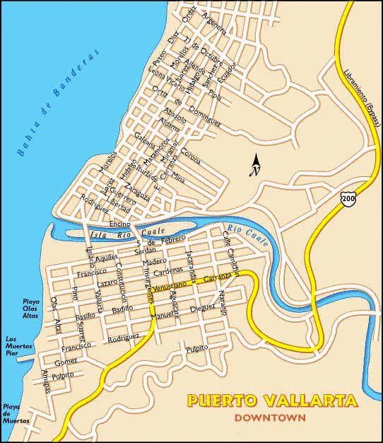 Map Of Old Town Puerto Vallarta Maps: Gay Puerto Vallarta Map At Infoasik.co