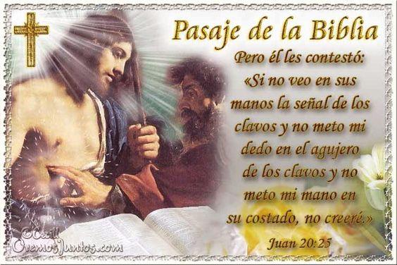 Vidas Santas: Santo Evangelio según san Juan 20:25