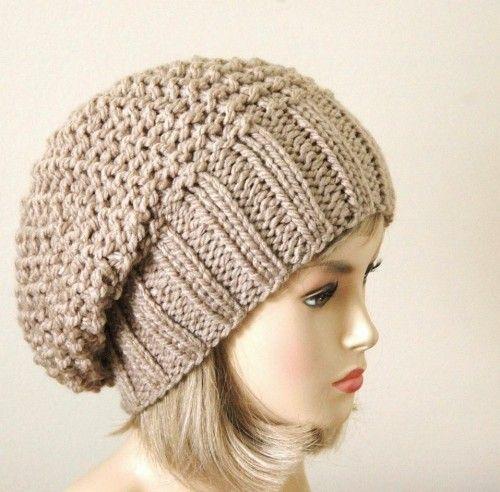 Knitting Pattern Reversible Hat : Slouchy beanie, Slouchy beanie hats and Beanie on Pinterest