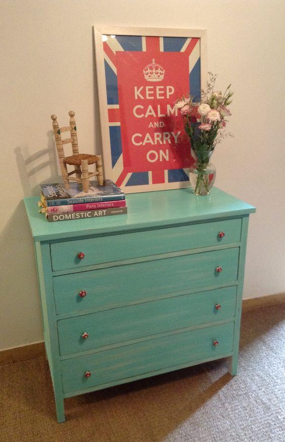Comoda restaurada y patinada muebles restaurados - Muebles restaurados vintage ...