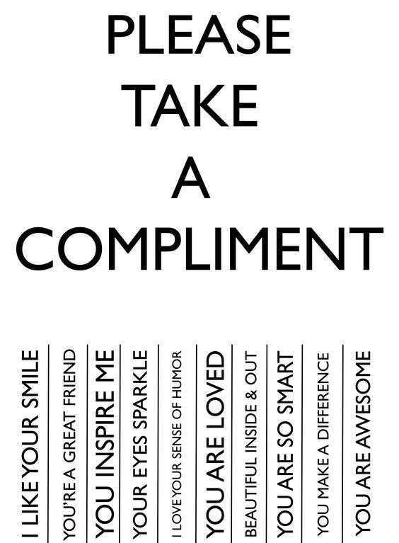 Make Someones Day!! PLEASE TAKE A COMPLIMENT Cos you or whoever you are giving to, deserves to be HAPPY! :D | By Lollybug Studio: