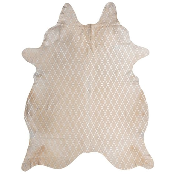 Amigos de Hoy Arlequin Cow Hide Rug - Cream with Silver Print - Pickup unavailable from our Melbourne Warehouse. This product is not currently on display in Abbotsford Showroom