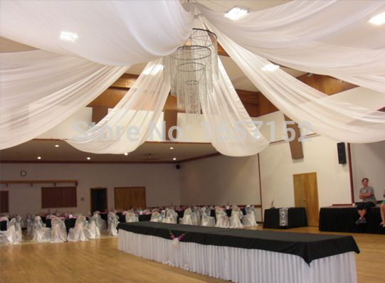 Luxury Wedding Ceiling Drape 10m(32.8ft) long x 1.4m(55'')/pc Many Colour Available 10pcs/lot