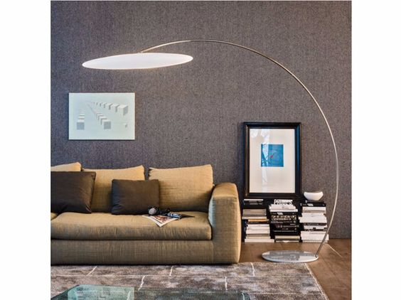Chrome plated steel floor lamp ASTRA ARC by Cattelan Italia design Piero De Longhi