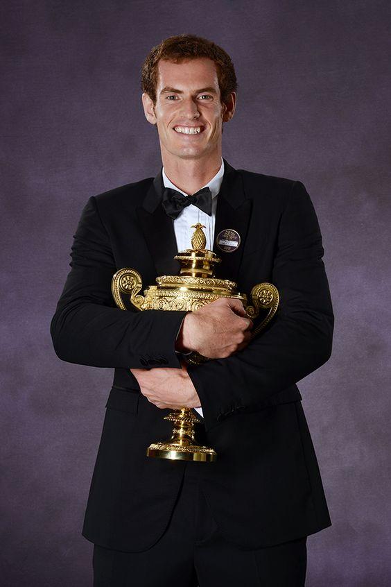 The Gentlemen's Singles Champion Andy Murray