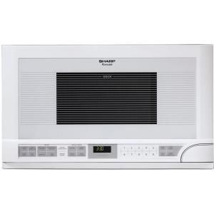 """Sharp 1.5 cu. ft. Over-the-Counter Microwave in White-R1211T at The Home Depot comes in silver and black, too. Get a shorter 24"""" cabinet and hang this above the dishwasher."""