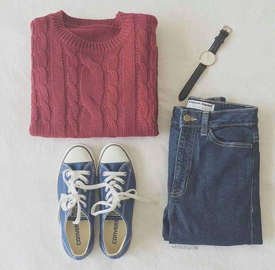 #simple pastel sweater