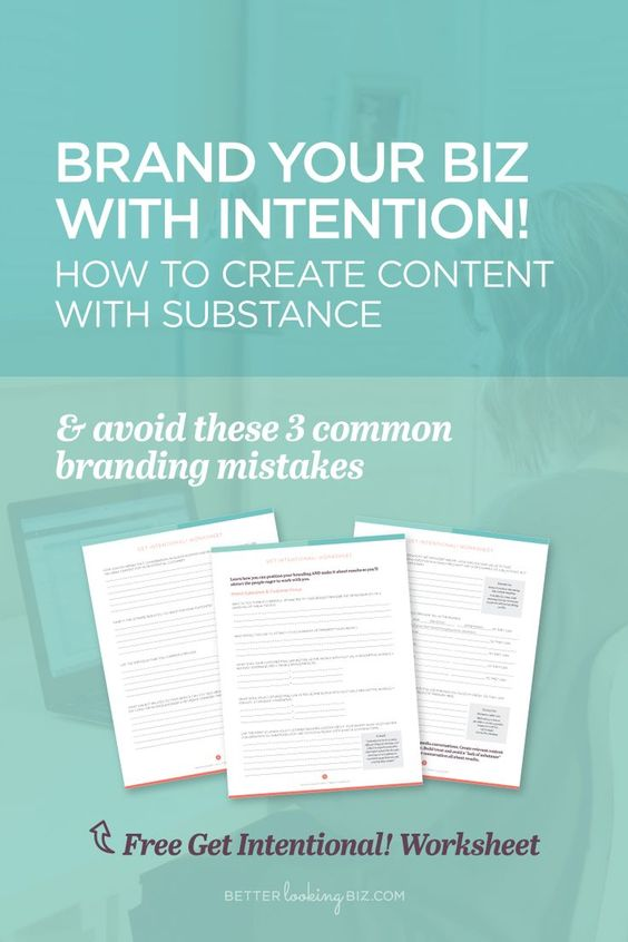 It's time to get intentional. Identify who you want to work with. Start creating valuable, relevant content for them. Learn how you can position your branding AND make it about results so you'll attract the people eager to work with you. Grab the worksheet »