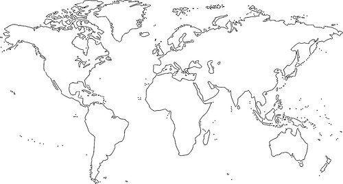 Dibujos De Mapamundi Para Ninos Mapamundi En Blanco Para Colorear E Imprimir Blogitecno Tecnologia Informat Mapa Dibujo Mapamundi Mapamundi Para Imprimir