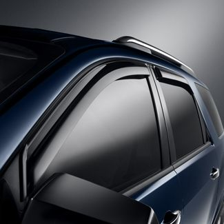 Let fresh air in and help keep rain, sleet and snow out with these custom-molded Side Window Weather Deflectors.