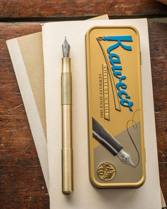 Extra Fine Point Kaweco Supra Fountain Pen Brass