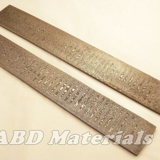 Hand Forged Damascus Billet Lot Of 2 Ladder Pattern Hand Forged Forging Hat Patterns To Sew