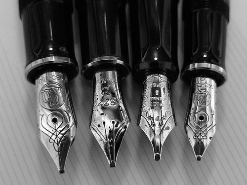 beautiful calligraphic pen nibs... <3