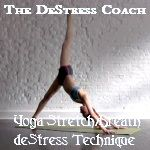 a yoga stretch/breath technique to destress from the day