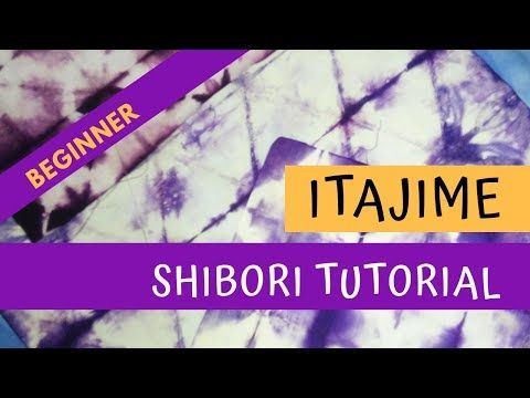 Tutorial Shibori Itajime Basic Folding Youtube Petunjuk Kebiasaan Belajar Belajar