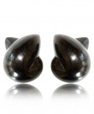 Patricia Von Musulin Ebony Double Point Clip Earrings