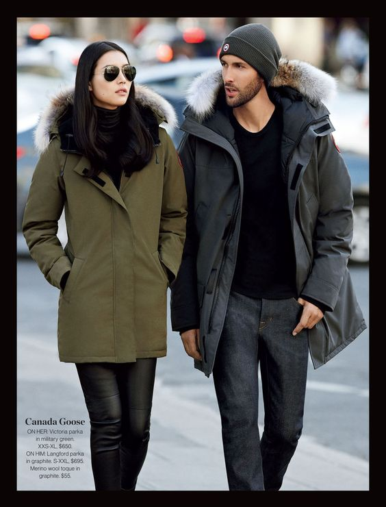 Canada Goose ON HER: Victoria parka in military green. XXS-XL ...