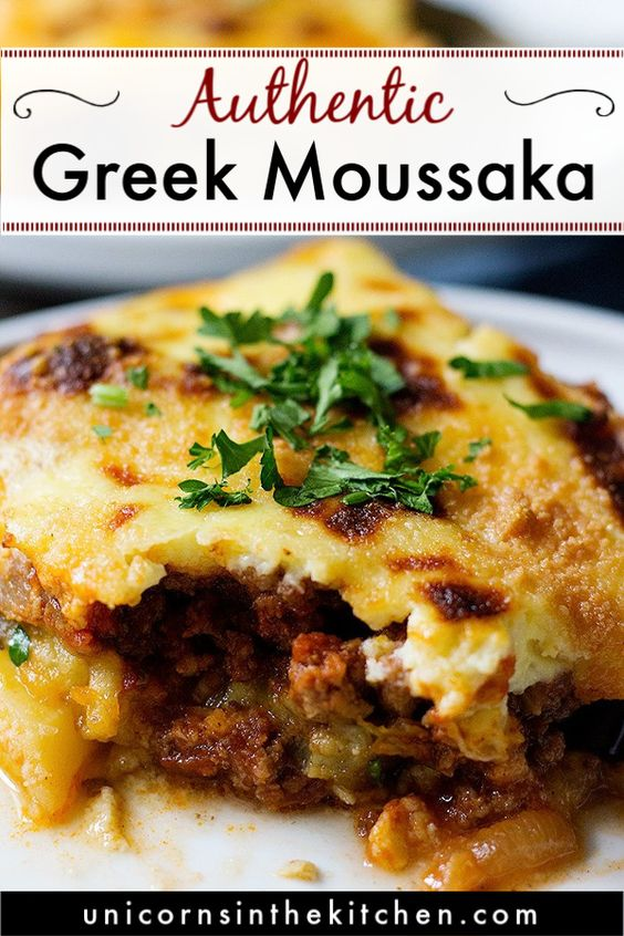 Greek Eggplant Moussaka Recipe • Unicorns in the Kitchen