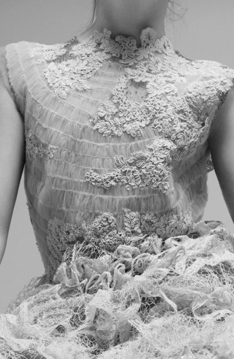 Smocked Lace detailed dress.