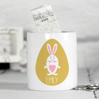 Personalised easter bunny money box for girls easter gifts personalised easter gifts stunning easter including personalised bunnies chocolate bars and sweets fast uk delivery negle Image collections
