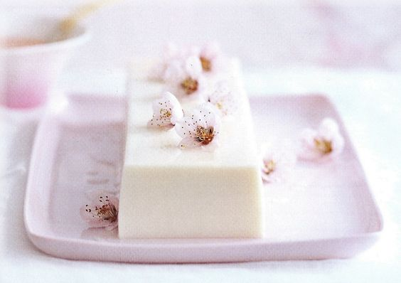 Donna Hay, sakura and rose milk jelly.