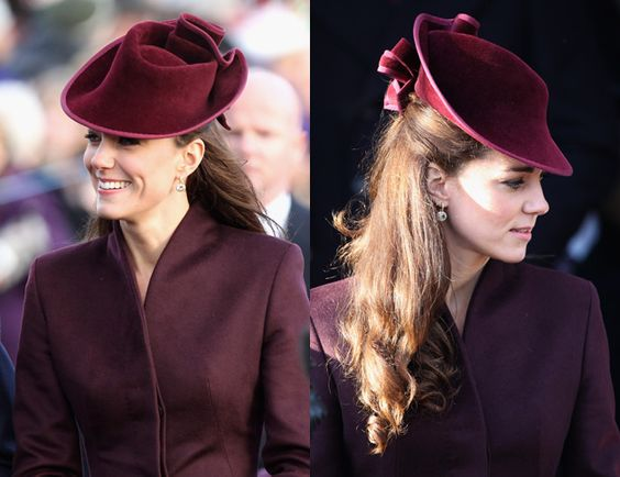 Kate Middleton's Christmas Day hat turned heads / Getty