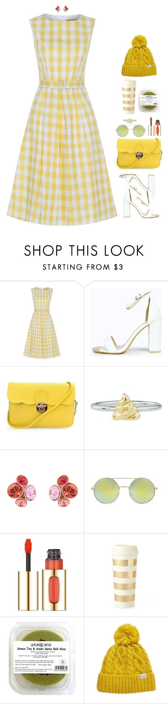 """Ray of sunshine"" by xoxomuty on Polyvore featuring Boohoo, Rock 'N Rose, Ted Baker, Forever 21, L'Oréal Paris, Kate Spade and Rella"