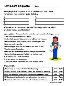 Pictures Life Skills Worksheets For Kids - pigmu