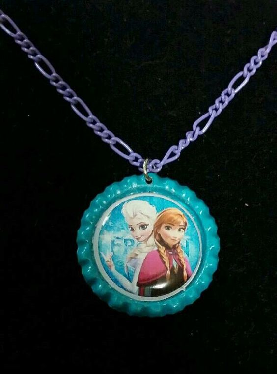 Frozen Elsa and Anna Necklace