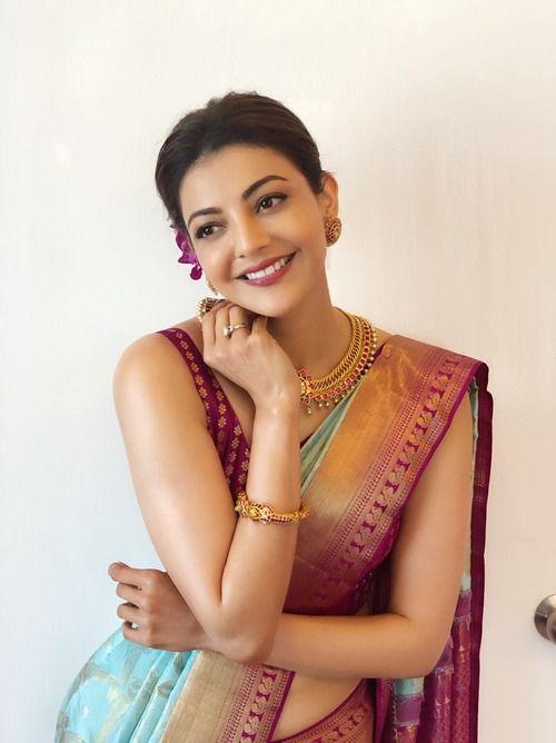 Kajal Aggarwal Traditional Photos Saree Beautiful Saree Indian Designer Outfits
