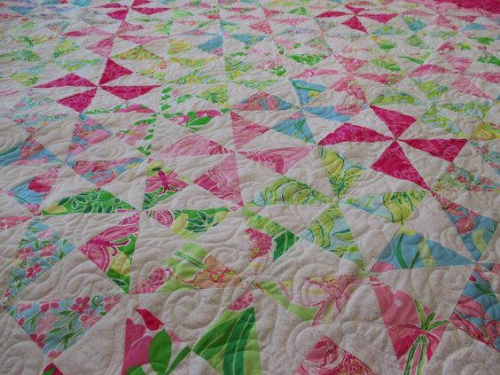 Down To Sew: Alligators and a Lilly Pulitzer quilt from Jessica ... : lilly pulitzer quilts - Adamdwight.com