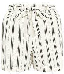 Pin for Later: 28 Shorts à Imprimés Qui Vous Aideront à Combattre la Chaleur  New Look Short blanc à rayures noué à la taille (18€)