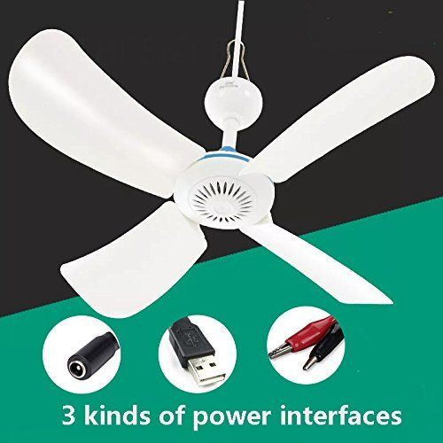 Dc 12v Ceiling Fan Portable Usb Fan For Camping Outdoor Indoor Using Energy Sav Fans Usb Camping