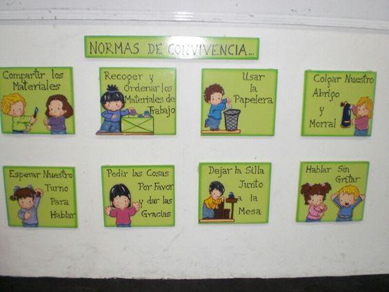 Normas de convivencia en el aula de clase carteles for Actividades para el salon de clases de primaria