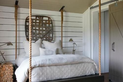 Interior Rope Projects In 2020 Hanging Beds Shiplap Bedroom Bed