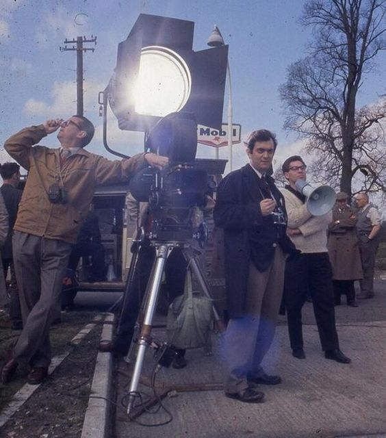 Rare color photo of Stanley Kubrick on the set of Lolita.