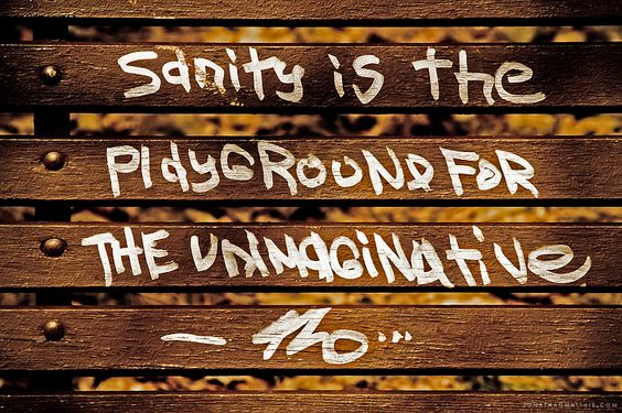 Sanilty is the Playground for the UnImaginative