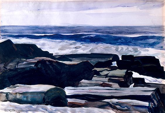 Edward Hopper - Foreshore-Two Lights - 1927