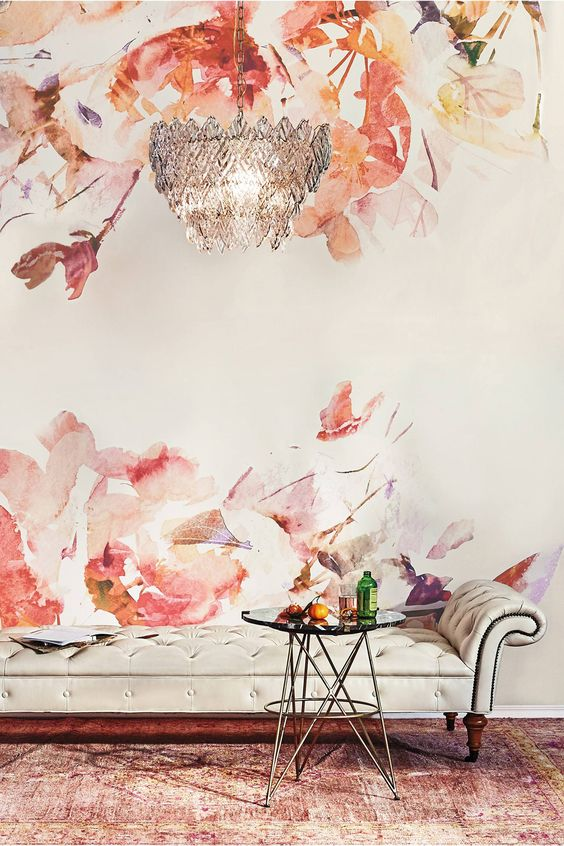 Murals anthropologie and wallpapers on pinterest for Anthropologie wallpaper