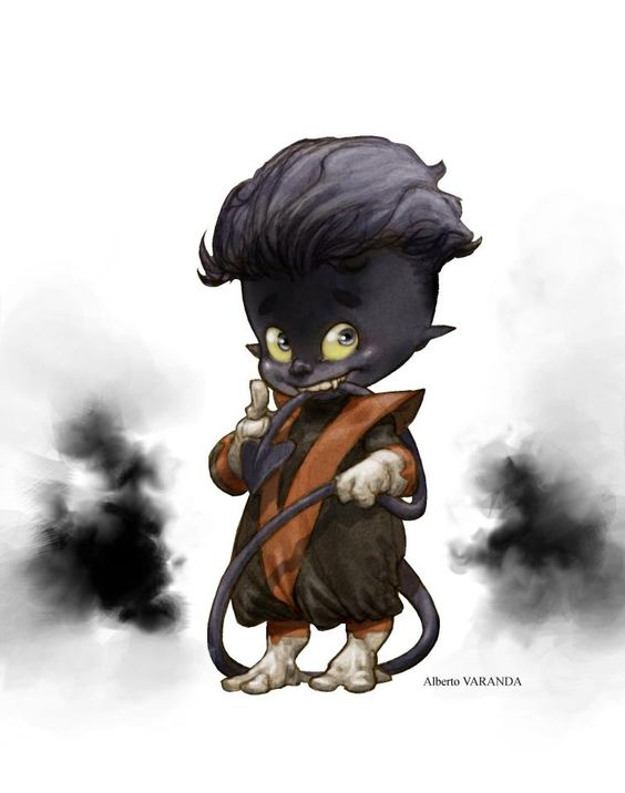 Little Diablo by Alberto Varanda   Cool Nightcrawler art!