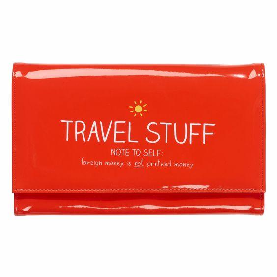 "HAPPY JACKSON LONDON ""Travel Stuff"" Document Holder"