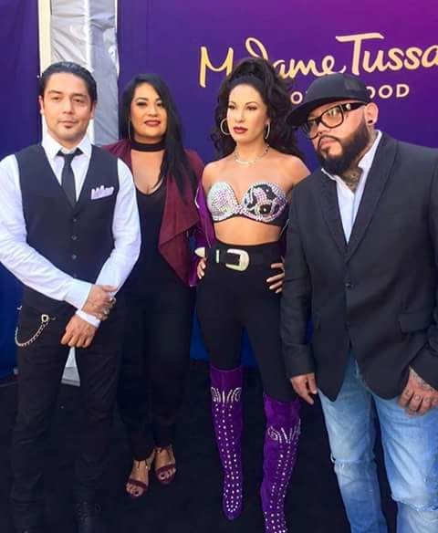 Madame Tussauds Hollywood's Selena Quintanilla-Perez and Family