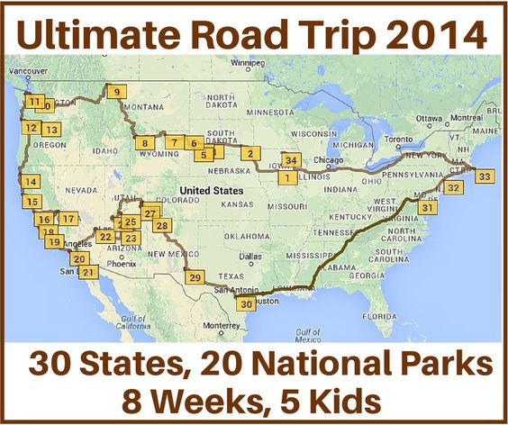 Ultimate Road Trip 2014 – Stops