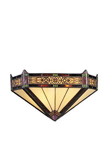 www.myhabit.com  Filigree border adds a delicate feel to this geometric design; hardwire, uses (2) 60-watt medium bulbs