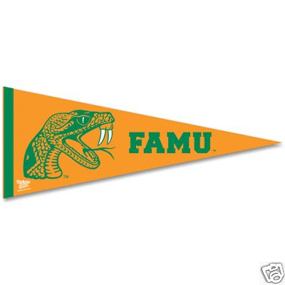 FLORIDA A&M RATTLERS 12X30 PREMIUM PENNANT NEW