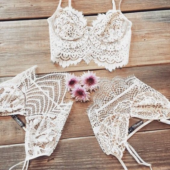 Lace Bralette :: Under Shirt :: Boho Style :: How to wear :: Under wear :: See more Untamed Lingerie Ideas + Inspiration @untamedorganica